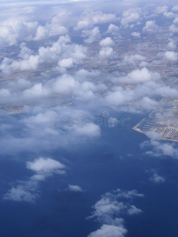 Opinión aérea de Valencia fotos de archivo libres de regalías