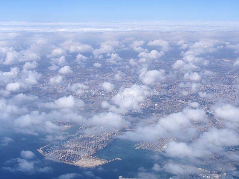 Opinión aérea de Valencia imágenes de archivo libres de regalías