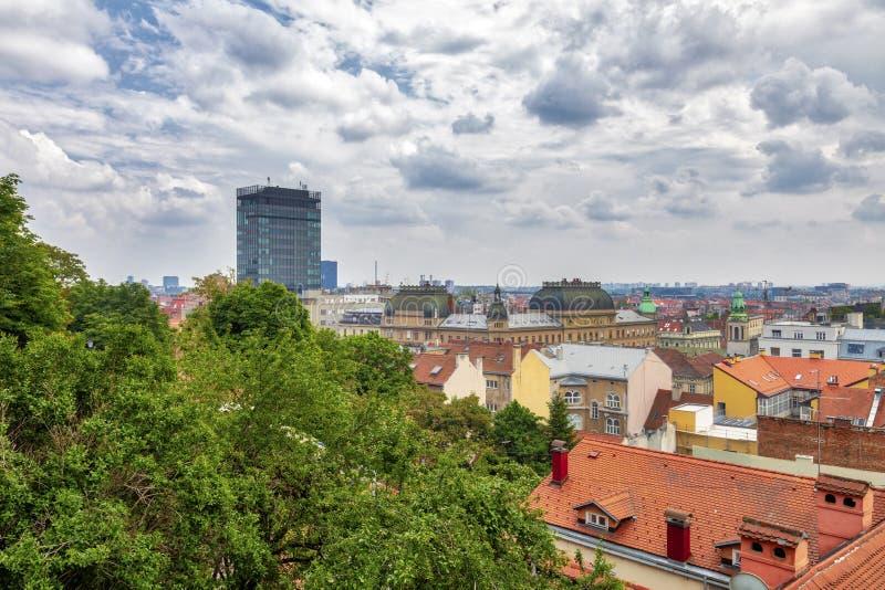 Opinión aérea de Zagreb fotos de archivo