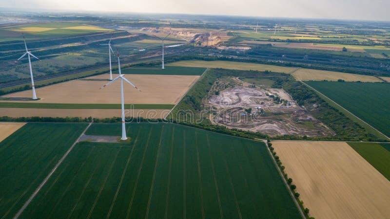Opinión aérea del abejón del área industrial de la energía alemana de RWE imagen de archivo