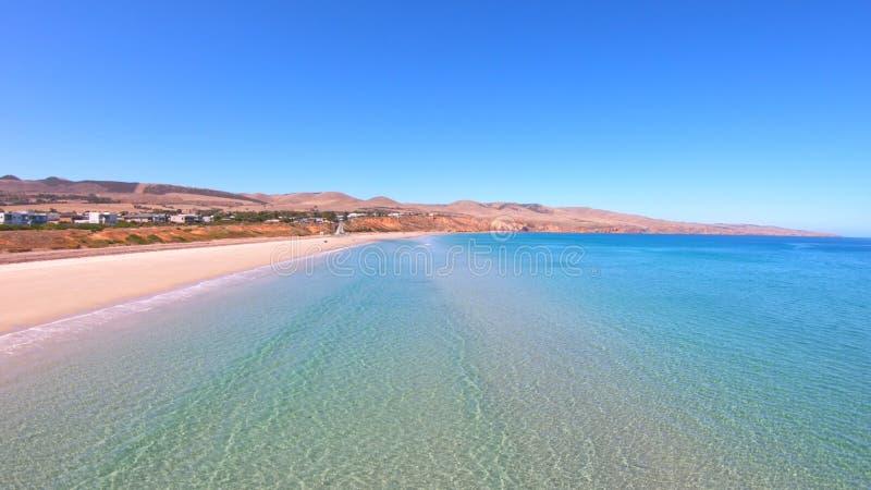 Opinión aérea del abejón de la playa de Sellicks, sur de Australia imagen de archivo libre de regalías