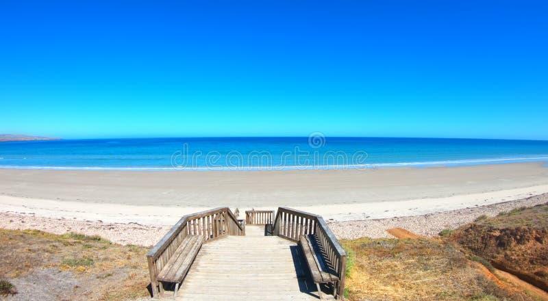 Opinión aérea del abejón de la playa de Sellicks, sur de Australia imagen de archivo