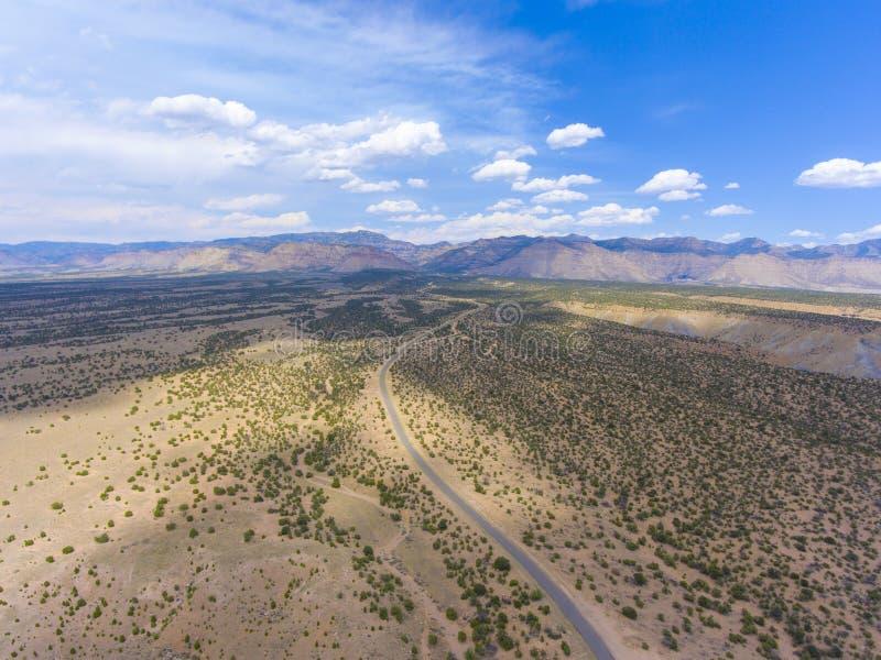 Opinión aérea del barranco del caballo, Utah, los E.E.U.U. foto de archivo libre de regalías