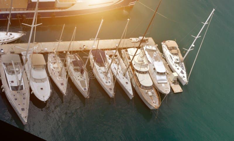 Opinión aérea del concepto de los veleros imagen de archivo libre de regalías