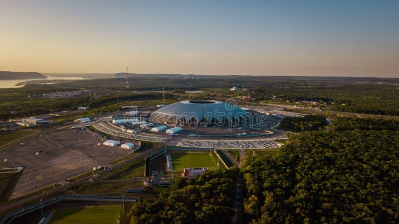 Opinión aérea del estadio imagen de archivo