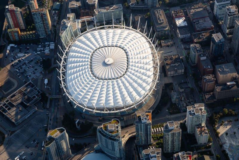 Opinión aérea del estadio imagen de archivo libre de regalías