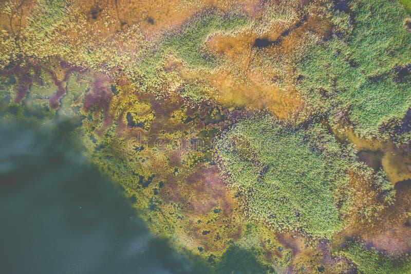 opinión aérea del lago que sorprende fotos de archivo libres de regalías