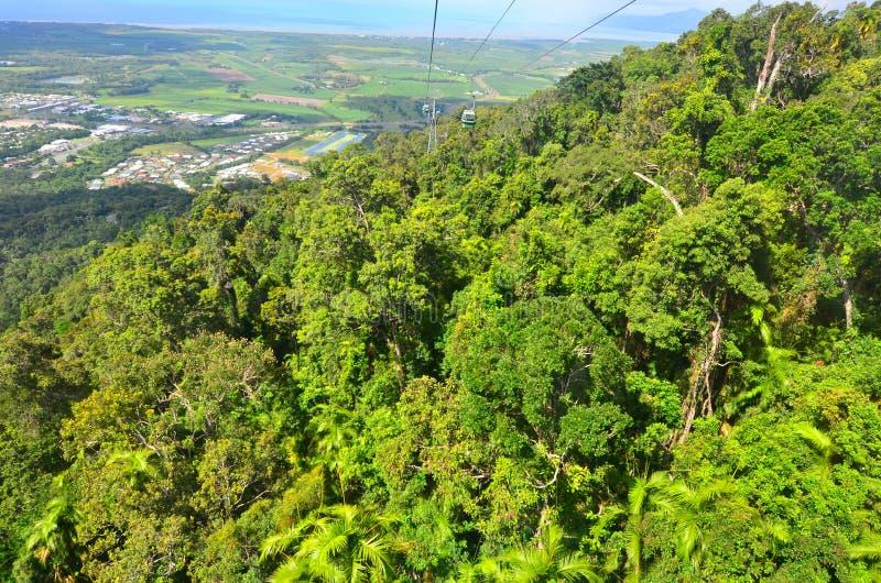 Opinión aérea del paisaje Barron Gorge National Park en Queenslan imagen de archivo libre de regalías