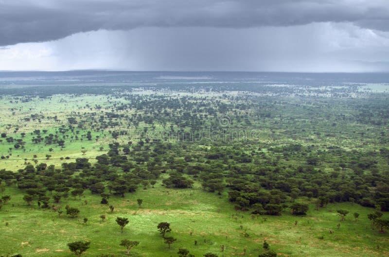 Opinión aérea de la reina Elizabeth National Park foto de archivo