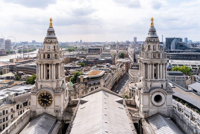 Opinión aérea del St Paul Cathedral fotos de archivo