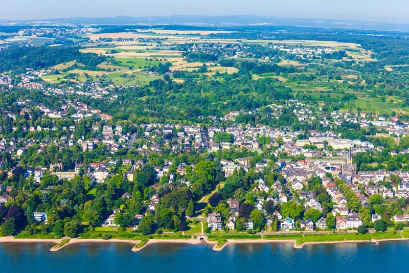 Opinión aérea del suburbio de Bonn, Alemania imagen de archivo libre de regalías