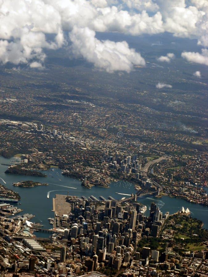 Opinión aérea IMG_8320 del puerto de Sydney foto de archivo libre de regalías