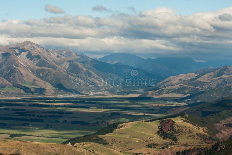 Opinión aérea Lewis Pass fotografía de archivo libre de regalías