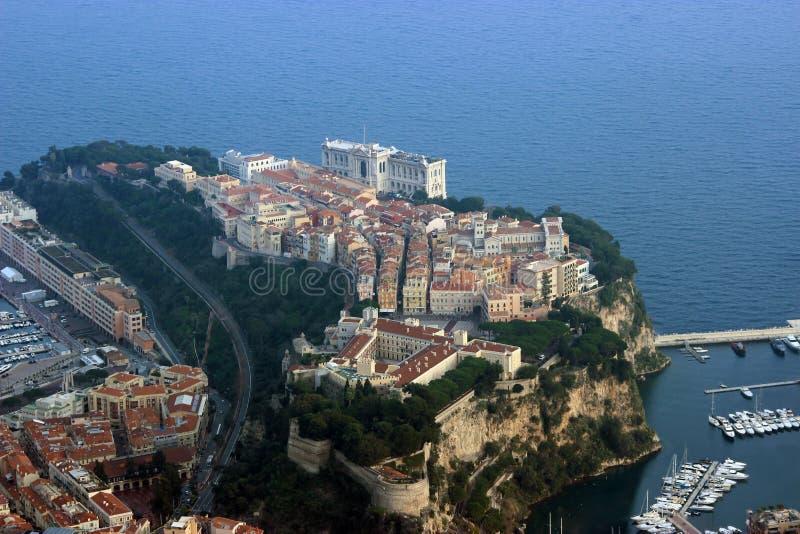 Opinión aérea Palace del príncipe, Mónaco imágenes de archivo libres de regalías