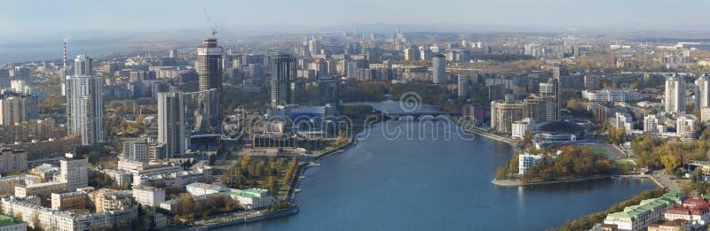 Opinión aérea panorámica de Ekaterimburgo, Rusia imagen de archivo libre de regalías