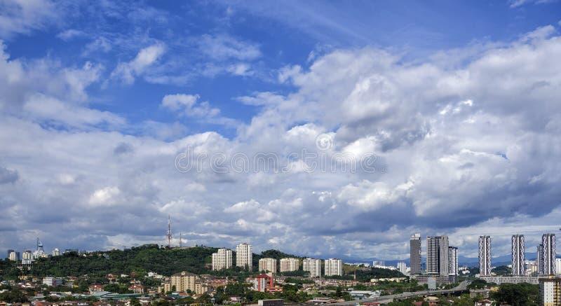 Opinión aérea Petaling Jaya South y nueva autopista de Pantai, Malasia fotos de archivo libres de regalías