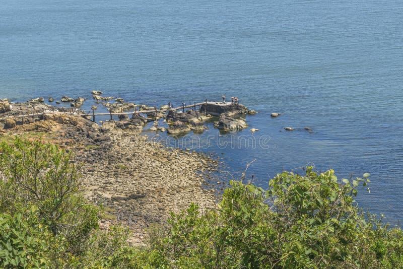 Opinión aérea Punta Colorada Uruguay del paisaje foto de archivo libre de regalías