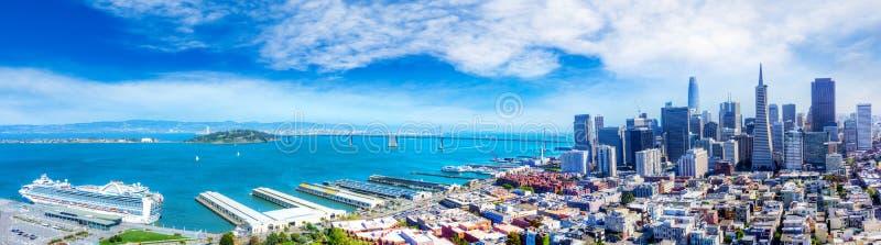 Opinión aérea San Francisco Bay Panorama fotos de archivo