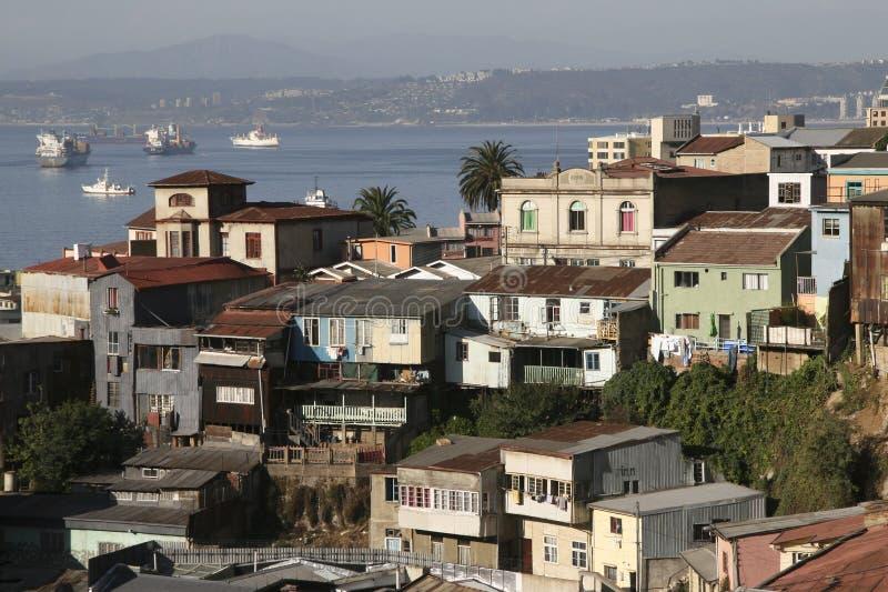 Opinión aérea sobre Valparaiso, Chile foto de archivo libre de regalías