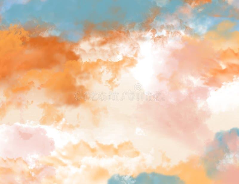 Opinión abstracta de la nube del fondo del color de agua foto de archivo