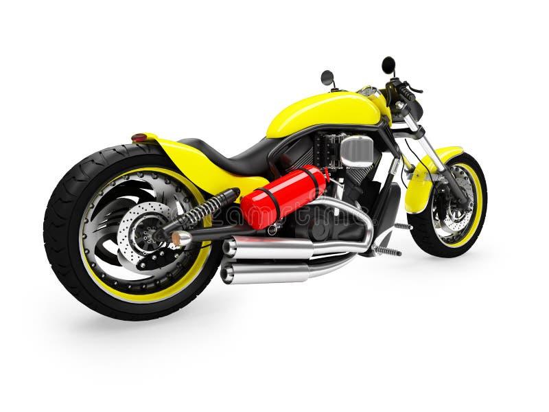 Opinión aislada 01 de la parte posterior del moto stock de ilustración
