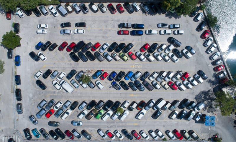 Opinión al aire libre de aparcamiento desde arriba, d3ia foto de archivo libre de regalías