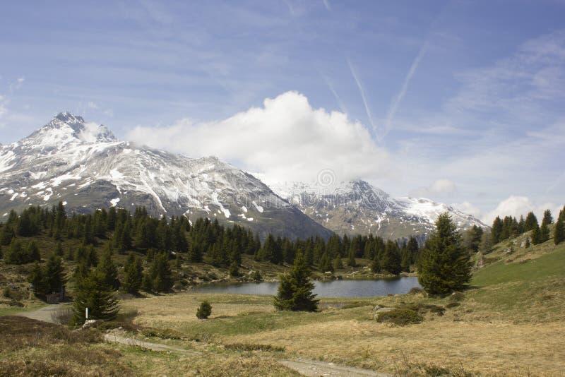 Opinión Alp Flix foto de archivo libre de regalías