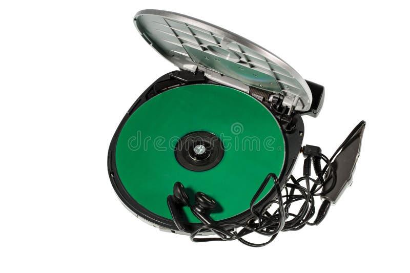 Opinión ascendente cercana el lector de cd aislada Viejos fondos de la tecnología foto de archivo libre de regalías