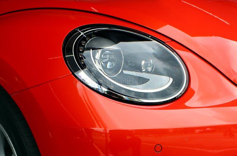 Opinión ascendente cercana la nueva generación de linterna de VW de Volkswagen Beetle, exhibida durante el festival 2018 de Volks foto de archivo libre de regalías