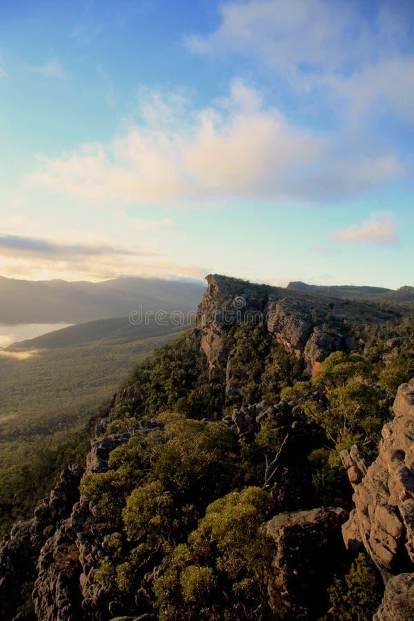 Opinión Australia del paisaje de Grampians fotografía de archivo libre de regalías
