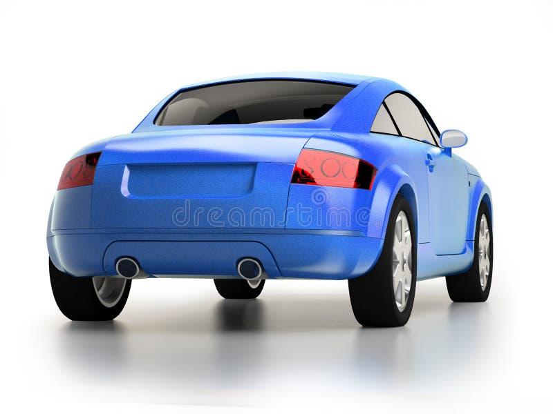 Opinión azul moderna de la parte posterior del coche libre illustration