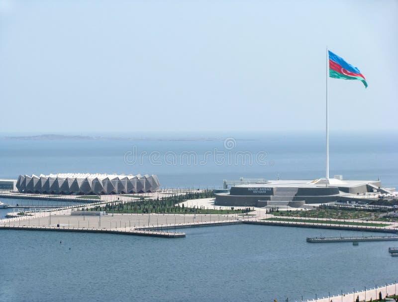 Opinión Baku Crystal Hall azerbaijan fotos de archivo