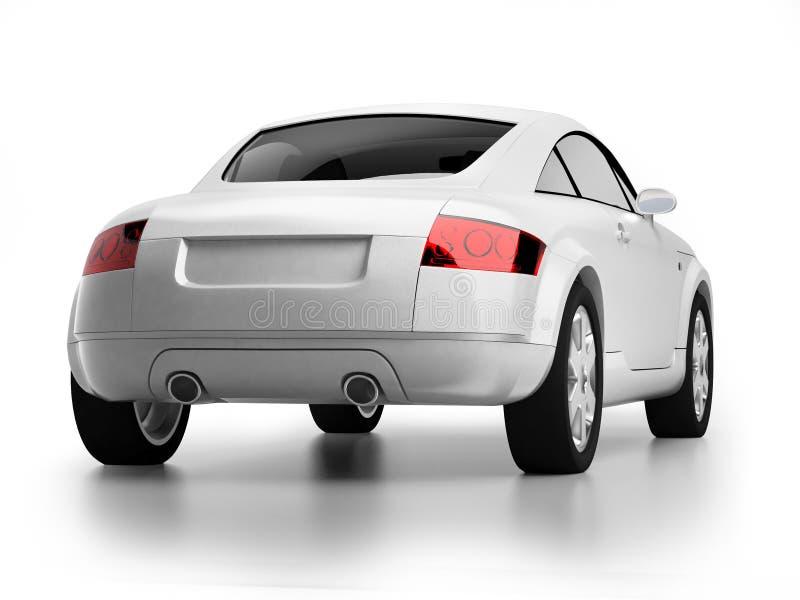 Opinión blanca moderna de la parte posterior del coche libre illustration
