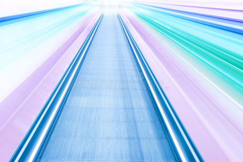 Opinión borrosa extracto del movimiento de la velocidad del color fotografía de archivo