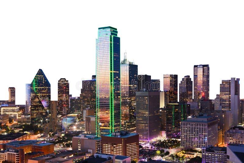 Opinión céntrica de Dallas tirada de torre de la reunión fotografía de archivo