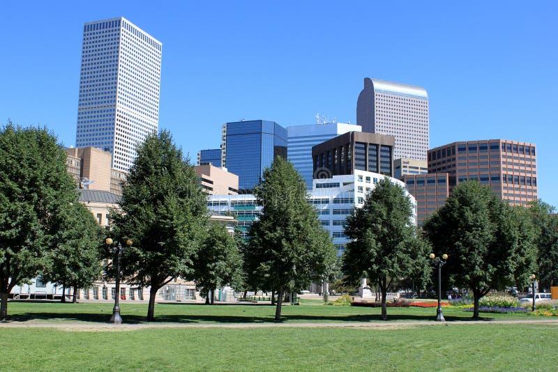 Opinión céntrica de Denver imagen de archivo