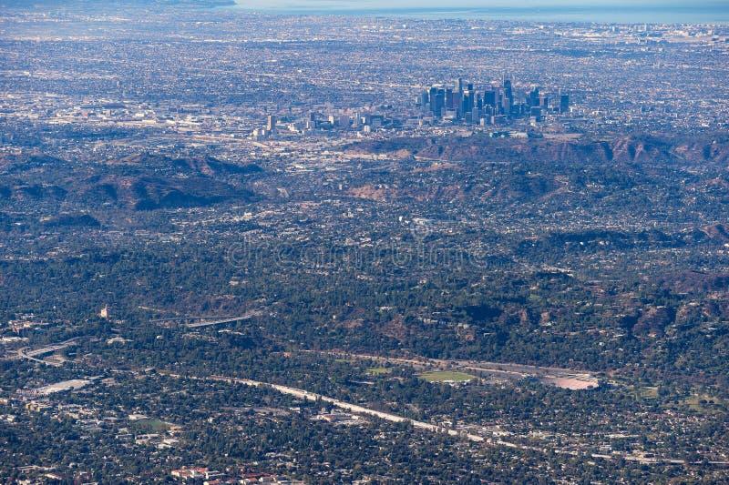 Opinión céntrica de Los Ángeles del Mt lowe fotos de archivo libres de regalías