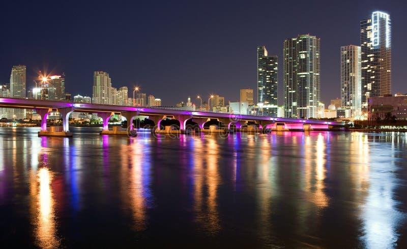 Opinión céntrica de Miami fotografía de archivo libre de regalías
