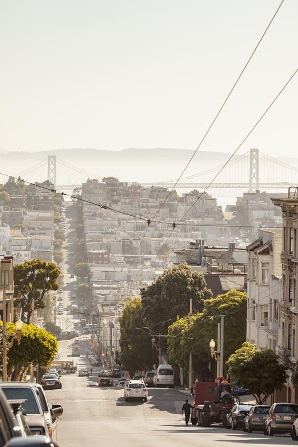 Opinión céntrica de San Francisco imagen de archivo libre de regalías
