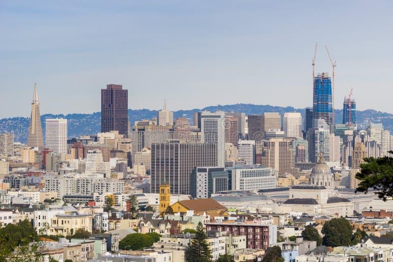 Opinión céntrica de San Francisco, California imagen de archivo