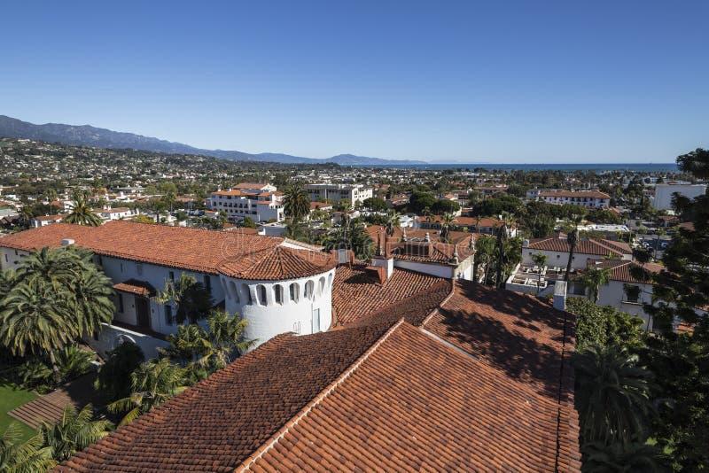 Opinión céntrica de Santa Barbara fotos de archivo