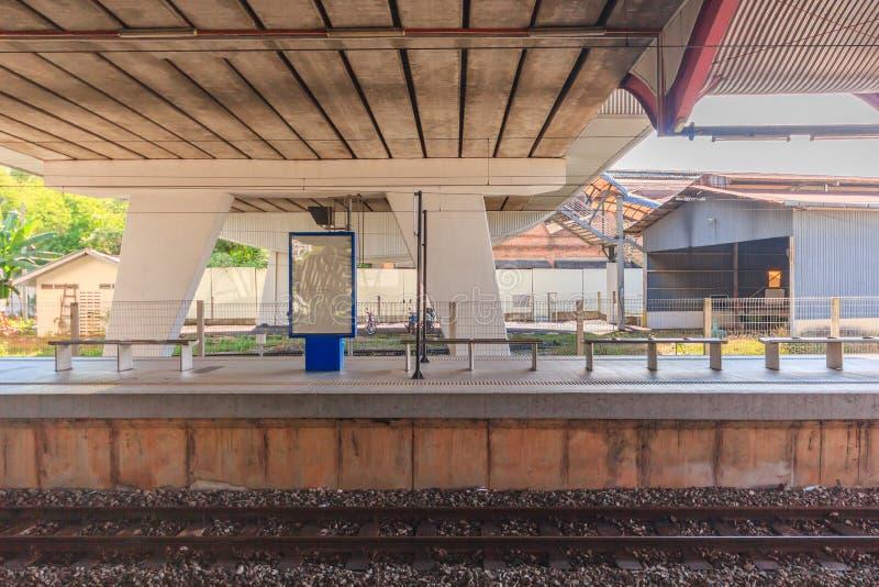 Opinión central de la estación de la manera del carril Fue abierto en 1995, poseído por Keretapi Tanah Melayu (KTM) imágenes de archivo libres de regalías