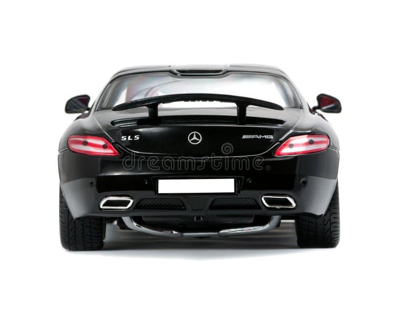 Opinión cobrable de la parte posterior de Mercedes del coche deportivo imagen de archivo