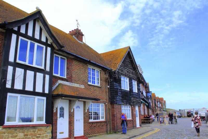 Opinión costera Kent Great Britain de la calle de Folkestone foto de archivo