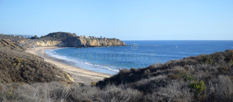 Opinión Crystal Cove State Park, California meridional imagen de archivo libre de regalías