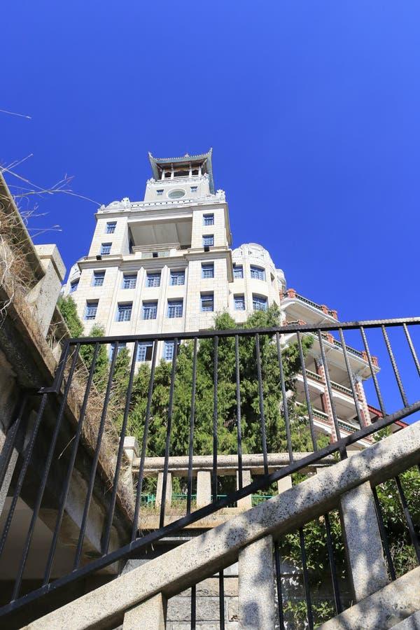Opinión de ángulo bajo del edificio del nanxun imagen de archivo