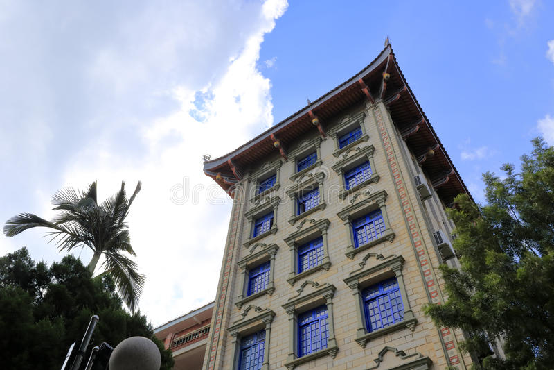 Opinión de ángulo bajo del edificio del nanxunlou fotografía de archivo libre de regalías