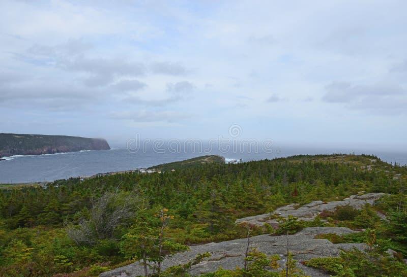 Opinión de alto ángulo a lo largo de la roca de Beamer fotografía de archivo