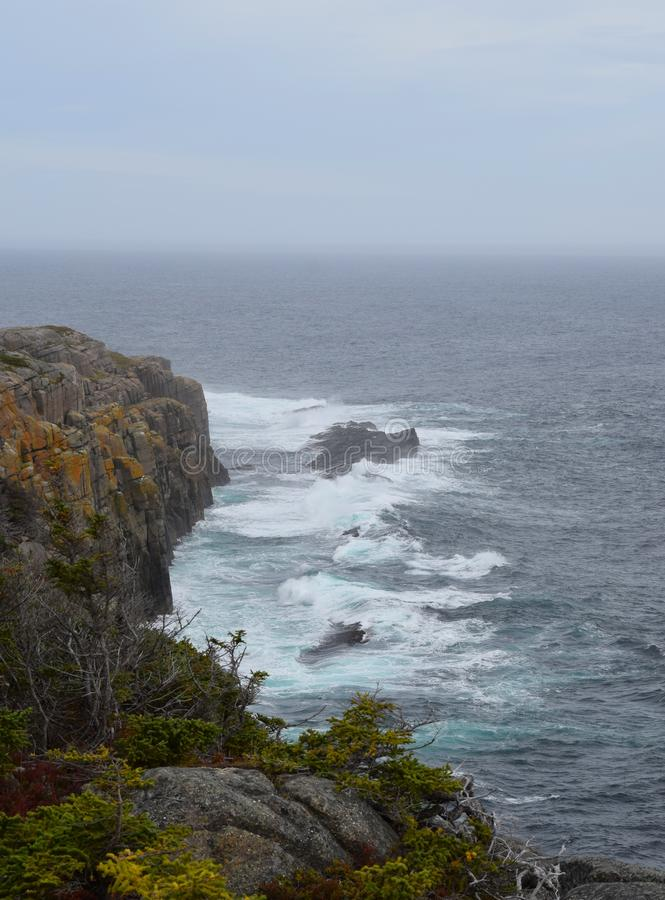 Opinión de alto ángulo a lo largo de la roca de Beamer fotos de archivo