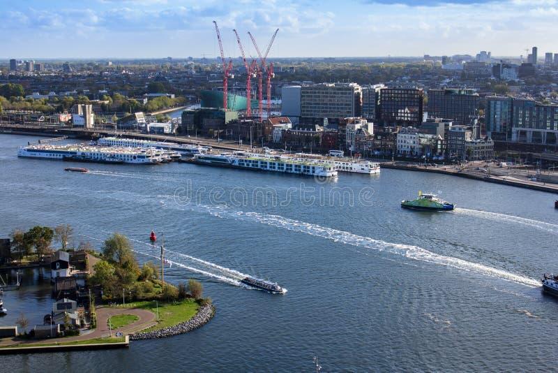 Opinión de Amsterdam de Adam Lookout Tower imagenes de archivo